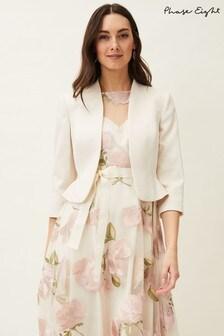 Phase Eight Cream Aisha Textured Jacket