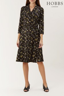 Hobbs Black April Wrap Dress