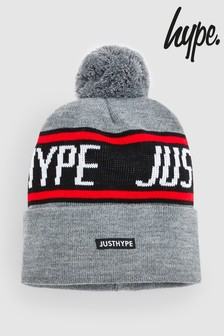 Hype. Grey Sporting Bobble Hat