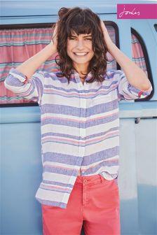 Joules Multi Stripe Jeanne Print Shirt