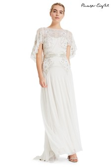 Phase Eight Champagne Louise Beaded Wedding Dress