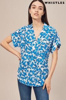 Whistles Cordillia Print Blue Lea Shirt