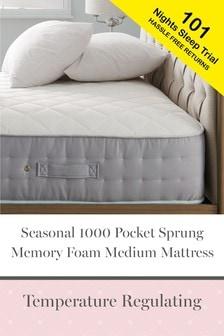 Seasonal 1000 Pocket And Memory Foam Medium Mattress