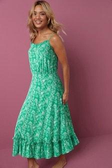 Strappy Jersey Dress