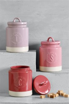 Set of 3 Berries Storage Jars