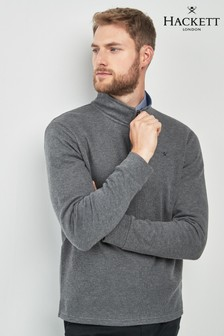 Hackett Grey Half Zip Sweatshirt