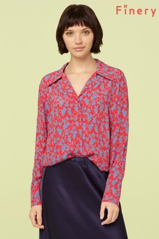 Finery London Pink Ester Print Shirt
