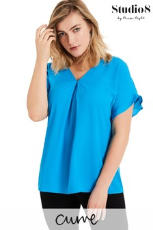 Studio 8 Blue Wilhelmina V-Neck Top