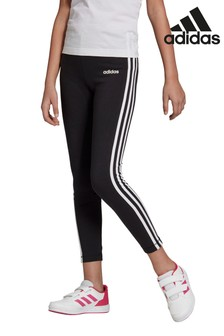 adidas Black Essentials 3 Stripe Leggings