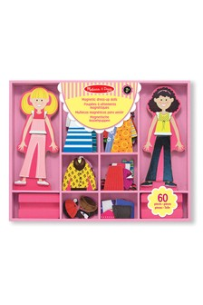 Melissa & Doug Abby & Emma Magnetic Wooden Dress-Up Dolls