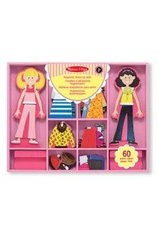 Melissa & Doug Abby & Emma Magnetic Wooden Dress-Up Dolls