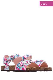 Joules Cream Ditsy Tippytoes Sandal