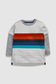 Skate Sleeve Rainbow Stripe T-Shirt (3mths-6yrs)