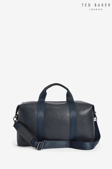 Ted Baker Navy Leather Holdall