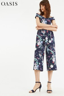 Oasis Blue Bloom Print Jumpsuit
