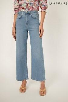 Warehouse Blue Wide Leg Jeans