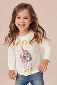 Birthday Girl Long Sleeve T-Shirt (3mths-7yrs)
