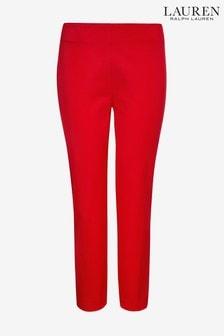 Lauren Ralph Lauren Red Twill Straight Trouser