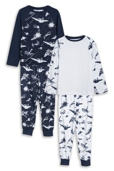 Space Print Pyjamas Two Pack (3-14yrs)