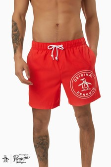 Original Penguin® Red Stamp Logo Elastic V Trunks