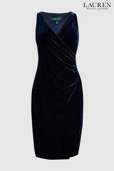 Lauren By Ralph Lauren Navy Velvet Dress