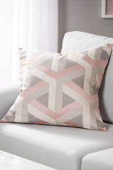 Optical Geo Large Square Cushion