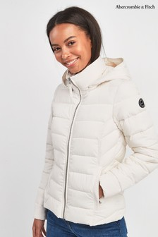 Abercrombie & Fitch Cream 3-In-1 Parka Jacket