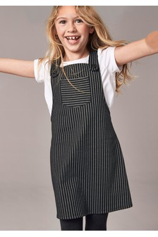 Pinstripe Dress And T-Shirt Set (3-16yrs)