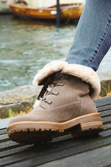 Forever Comfort® Faux Fur Lined Collar Boots