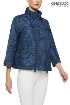 Geox Womens Gritah Blue Short Jacket
