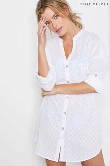 Mint Velvet White Shirt Cover-Up
