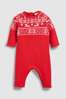 Fairisle Pattern Knit Romper (0mths-2yrs)