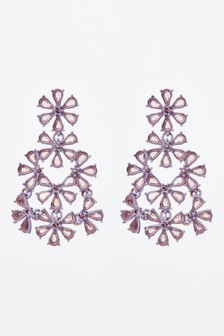 Jewelled Floral Drop Earrings