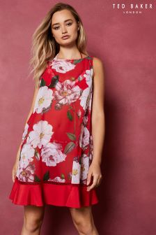 Ted Baker Ceskier Red Floral Ruffle Cover-Up
