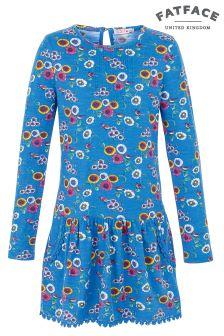 FatFace Cobalt Darlia Spring Bird Print Dress
