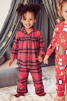 Pyjama tissé à carreaux (9 mois - 8 ans)