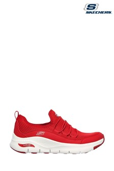 Skechers Red Arch Fit Lucky Thoughts Trainers