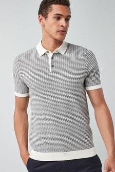 Трикотажная рубашка поло с плетеной отделкой