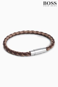 BOSS Blaine Leather Bracelet