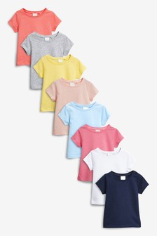 d2b02a482c6 Short Sleeve T-Shirts Eight Pack (3mths-6yrs)