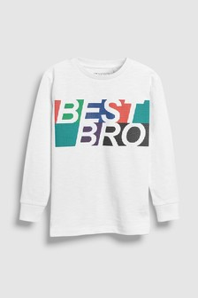 Long Sleeve Slogan T-Shirt (3-16yrs)