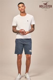 Hollister Navy Logo Short