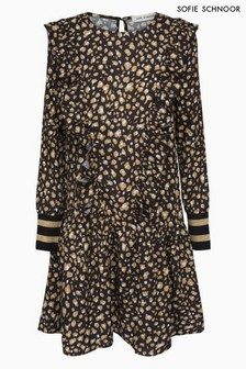 Sofie Schnoor Leopard Print Cuff Detail Dress