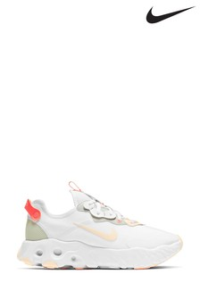 Nike White/Red React Art3mis Trainers
