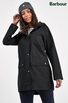 Barbour® Heritage Black Waterproof Manor Coat