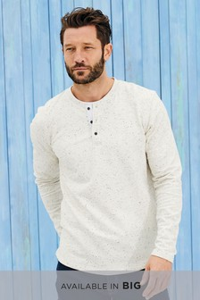 Long Sleeve Fabric Interest Grandad