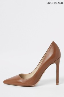 River Island Leather Court Shoe