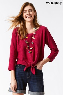 White Stuff Red River Tie Front Jumper