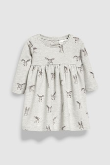 Bunny Print Dress (0mths-2yrs)