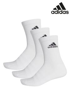 adidas Kids White Crew Socks Three Pack